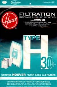EMBALAGEM SACOS HOOVER -  H30+ TELIOS/ARIANNE
